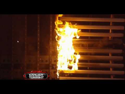 WWE Raw set catches fire before the show at U.S. Bank Arena