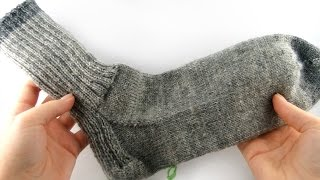 How to Knit Socks for Men #1 Cuff