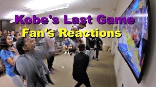 Kobe's Last Game - Fan's Reactions