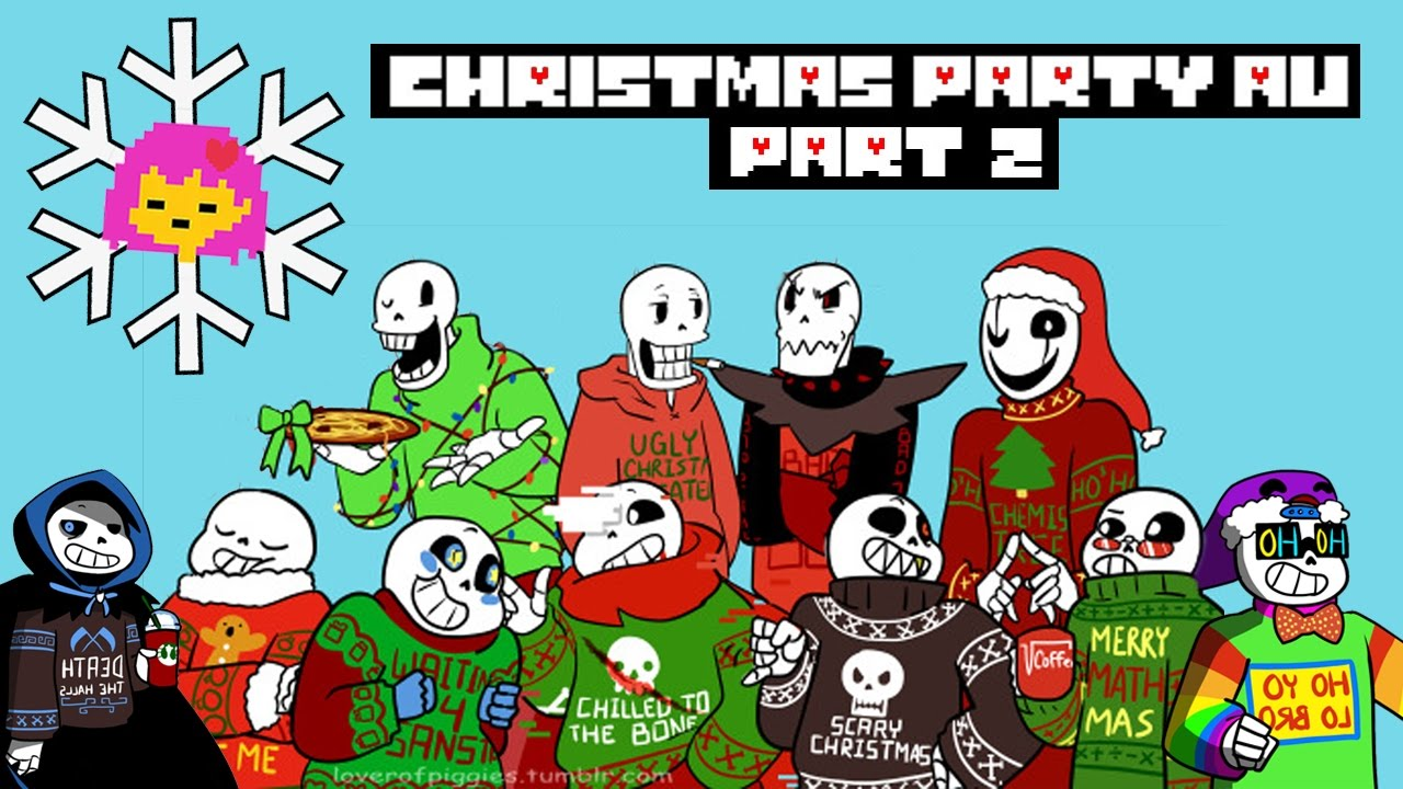 Christmas Party Au Comic.Holiday Undertale Comic Christmas Party Au 2 5