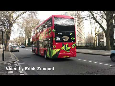*New Electric Bus* Demonstrator Bus on Route 36 Go-Ahead London MD1 YJ17 FXX