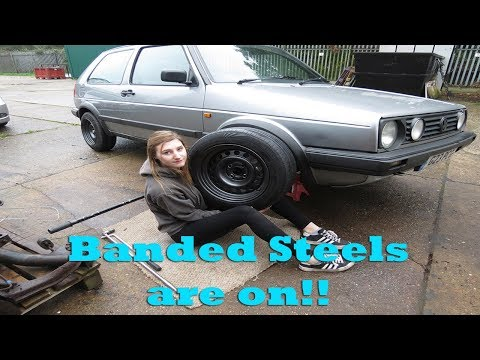 Banding and Painting the Steel Wheels on my VW Mk2 Golf!