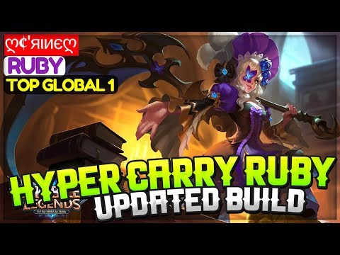 Hyper Carry Ruby Updated Build [ Top Global 1 Ruby ] ღ¢'яιиєღ Ruby Gameplay And Build