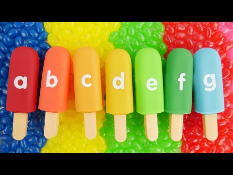 Thumbnail: Best Kid Learning Video to Learn the Alphabet Ice Cream Anna Elsa Toddlers Learn Colors Spell Candy