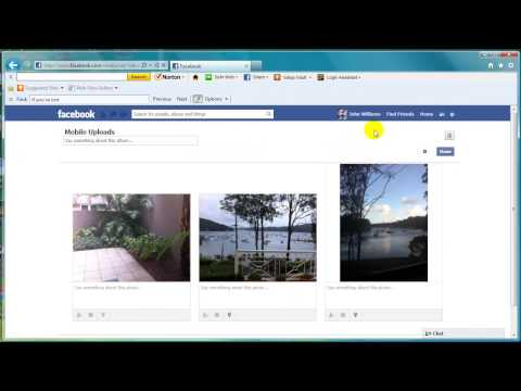 how to move photos from mobile uploads to another photo album in facebook
