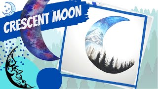 How to paint a crescent moon with markers