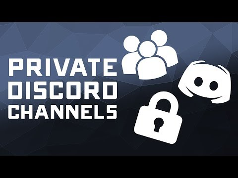 How to Create Private Discord Text & Voice Channels - Tutorial