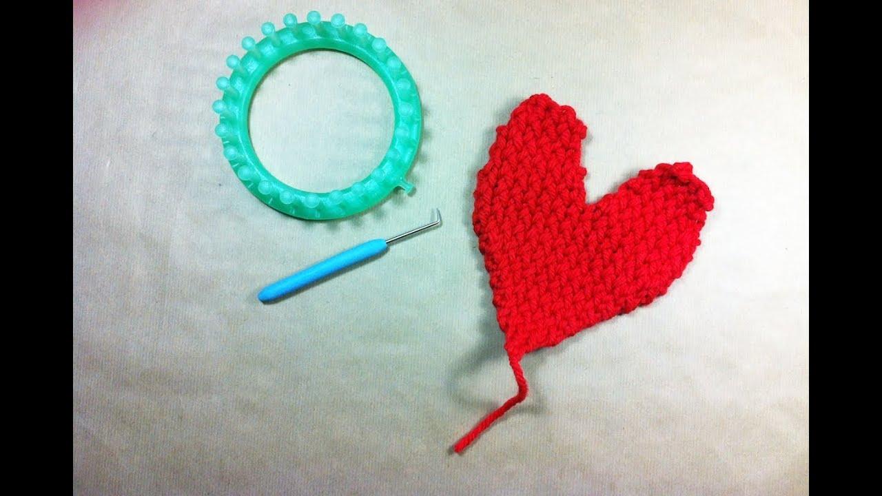 How to Loom Knit a Heart Shape (DIY Tutorial) - YouTube