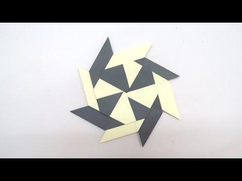 How to make a Paper transforming Ninja STAR (Shuriken) - Origami | DIY Paper Craft Videos