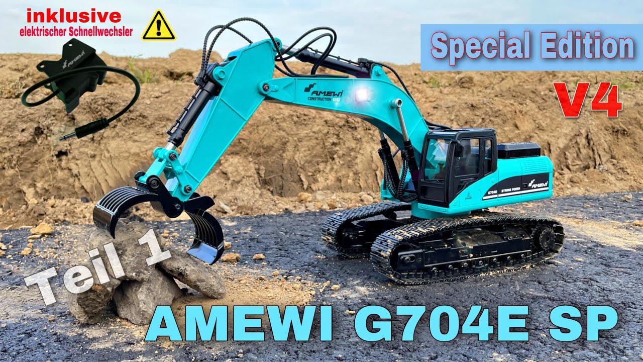 Download Amewi Vollmetall Bagger G704E SE Petrol | SPECIAL EDITION | mit elektronischen Schnellwechsler