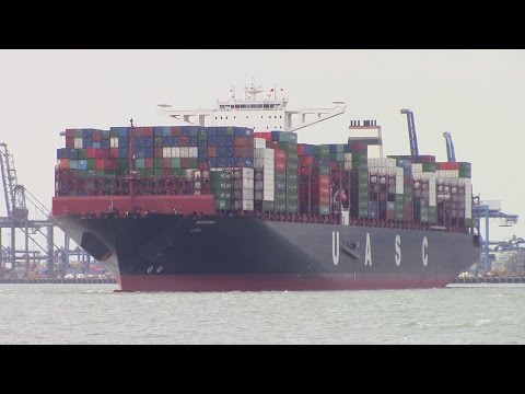 Thumbnail: World's Largest Ship!! UASC's BARZAN visits Felixstowe, UK - Maiden Voyage (June 25/26,2015)