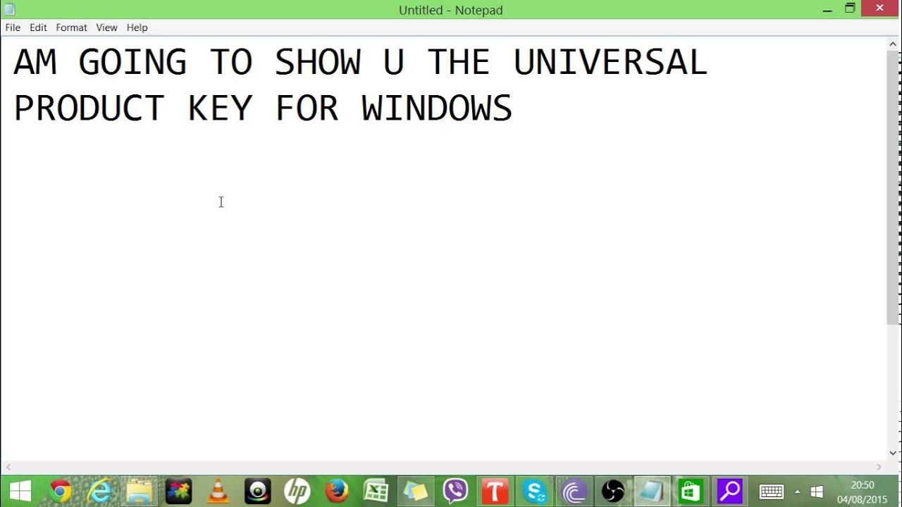 windows xp universal product key