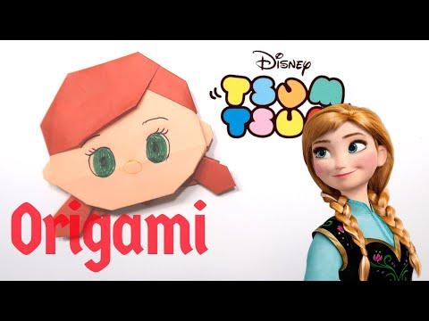 Anna Frozen | Tsum Tsum Origami Tutorial thumbnail