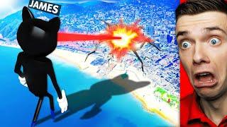Playing As GIANT CARTOON CAT In GTA 5 (Rampage)