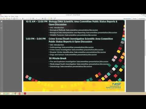 Conferencia de ciencias forenses OSAC desde New Orleans, USA. Emitido por ICITAP - Colombia