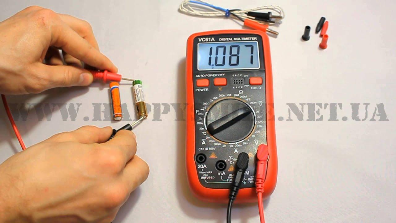 мультиметр vc61 инструкция