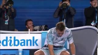 Berdych trash talking Murray after Australian Open Semifinal first set