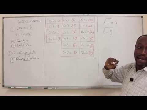 Cours - Troisième - Mathématiques : Racine - Carrée 1ère Partie