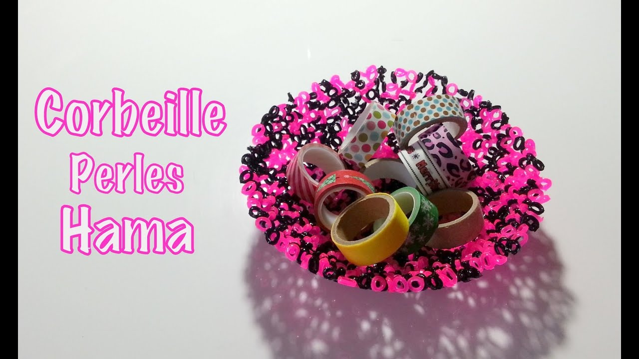 diy faire une corbeille avec des perles repasser hama youtube. Black Bedroom Furniture Sets. Home Design Ideas