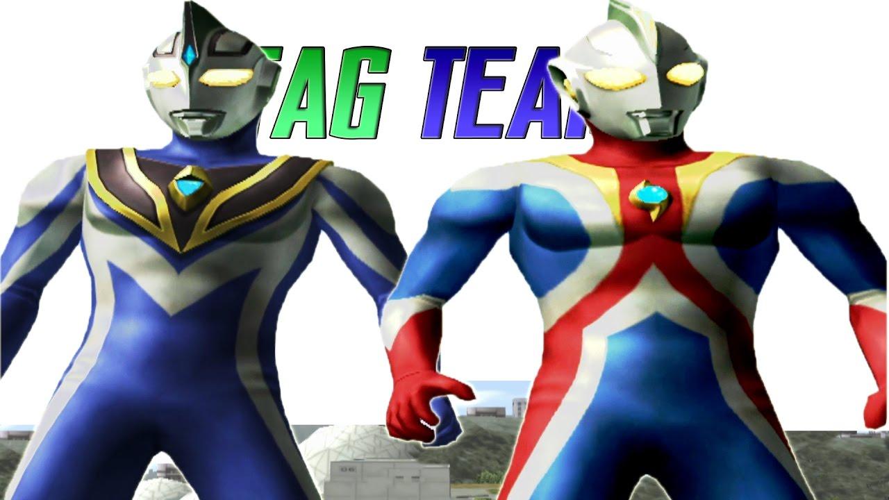 Ultraman Agul V2 & Ultraman Cosmos Future TAG Team Mode