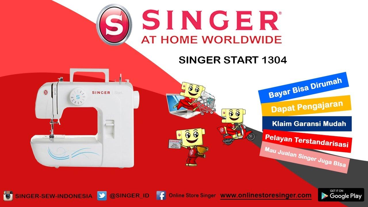 Singer Start 1304 Cara Penggunaan Dasar Mesin Youtube 1306