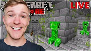 Hvor LANGT kan vi KOMME?!   Minecraft Hardcore *LIVE*