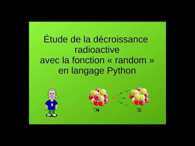 Simulation de décroissance radioactive en langage Python