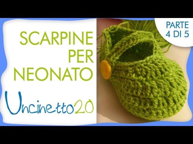 4 Uncinetto Neonato Di Per Tutorial Scarpine 5 wONn80ymv
