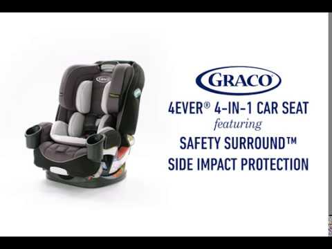 graco 4ever 4 in 1 car seat featuring safety surround side impact protection youtube. Black Bedroom Furniture Sets. Home Design Ideas