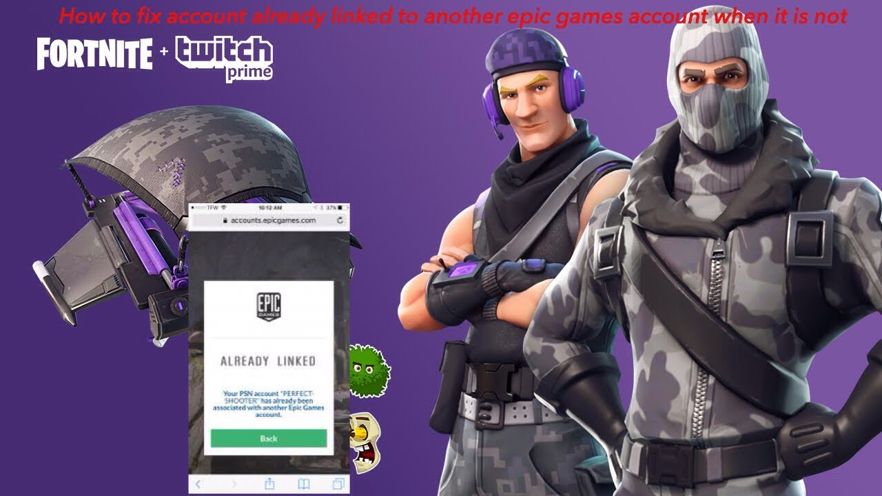 "fortnite How to fix ""psn/xbox account already linked to ..."