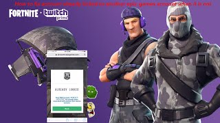 "fortnite How to fix ""psn/xbox account already linked to another epic games account"""