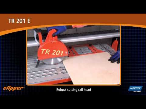 Norton Clipper Tr 201 E Rail Tile Saw