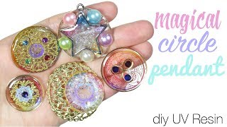 Watch me uv resin: How to DIY Magical Circle/Pendants Tutorial