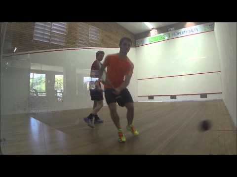 Jordan (red) vs. James (orange) - Sandgate Squash Centre