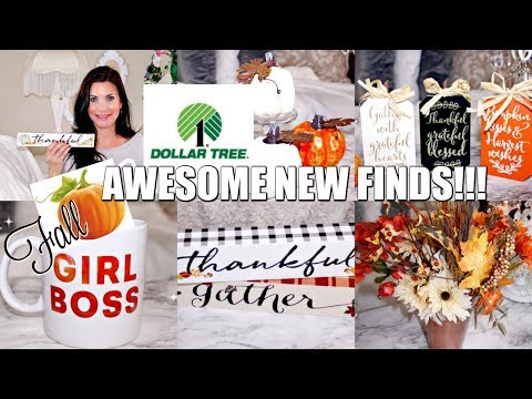 "🍁DOLLAR TREE HAUL 2019 🍁AWESOME NEW FALL FINDS / ""I Love Fall"" Series ep. 1 Olivia's Romantic Home"