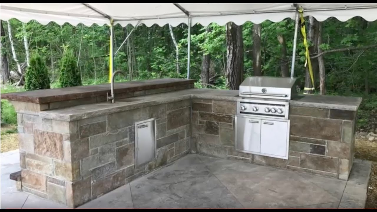 How To Build An Outdoor Kitchen Modular Panel Assembly Youtube