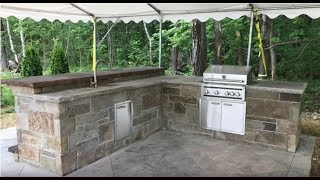 How to Build an Outdoor Kitchen - Modular Panel Assembly