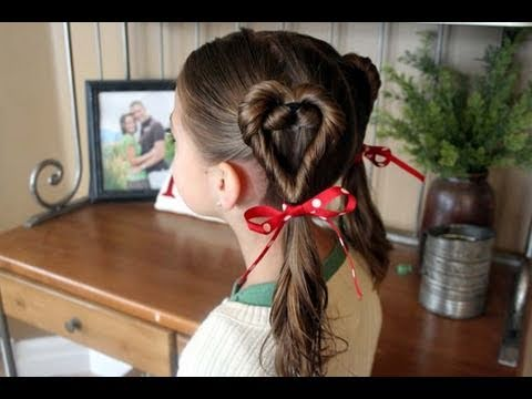 day hairstyles Cute girl valentine s