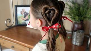 Double Heart Twists | Valentine's Day | Cute Girls Hairstyles thumbnail