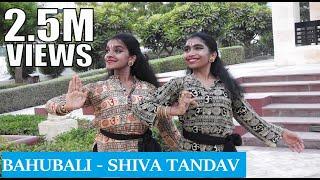 Bahubali - Shiva Tandav | Bharathanatyam Dance Choreography | Nidhi and Neha