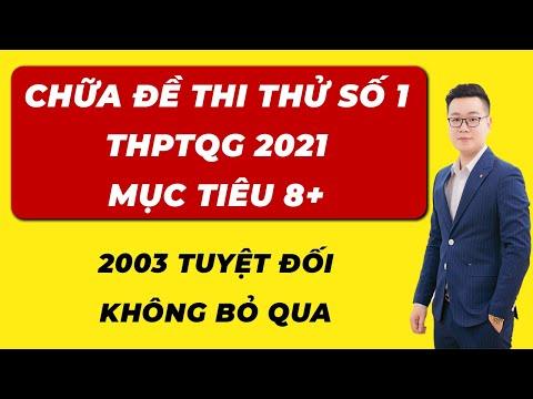 Chữa Đề Thi Thử 2021 - Thầy Nguyễn Tiến Đạt
