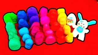 30 surprise eggs play doh disney princess minnie mouse disney cars playdough peppa pig dora toy lps