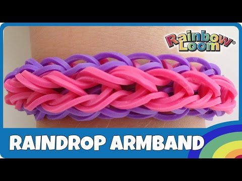 rainbow loom raindrop armband deutsche anleitung youtube. Black Bedroom Furniture Sets. Home Design Ideas