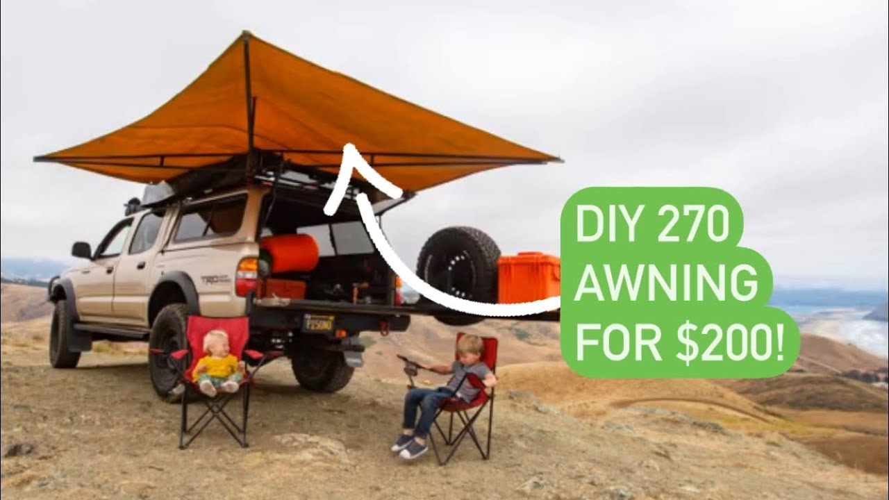 Home made 270 degree overland truck awning - YouTube
