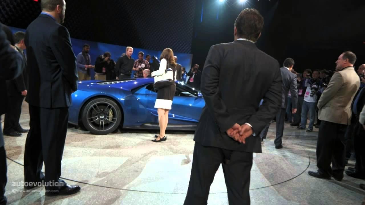 All New Ford Gt Concept  Detroit Auto Show Live Photos