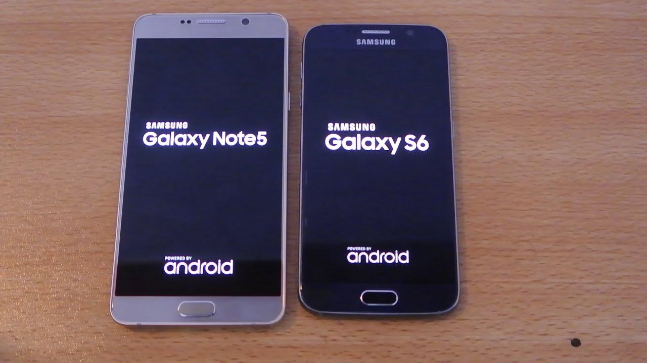 Samsung Galaxy Note 5 vs Galaxy S6 - Speed Test HD - YouTube