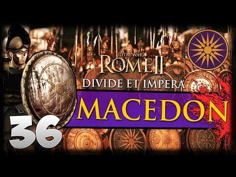 PERGAMON'S LAST STRIKE! Total War: Rome II - Divide Et Impera - Macedon Campaign #36