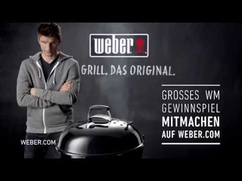 weber zur fu ball wm 2014 mit thomas m ller im tv youtube. Black Bedroom Furniture Sets. Home Design Ideas