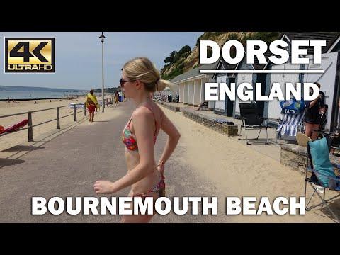 Bournemouth Beach Summer Time Dorset England