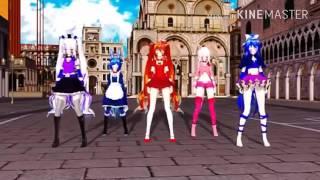 Танцы аниме фнаф5 под песню санта лючия